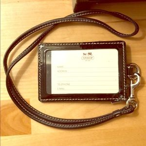 Coach ID Lanyard in Signature Canvas
